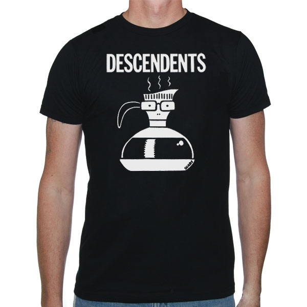 Descendents- Milo Coffee Pot on a black shirt