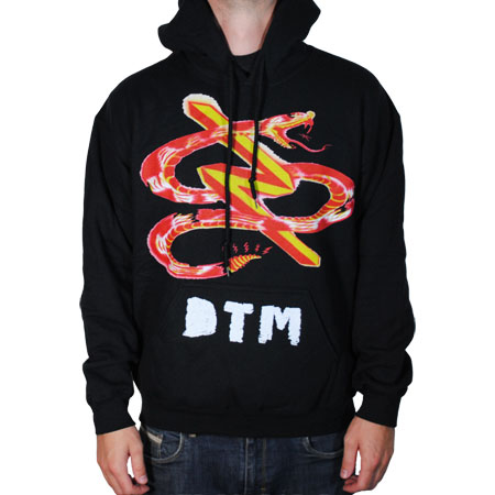 Dead To Me- Snake on a black hooded sweatshirt (Sale price!)