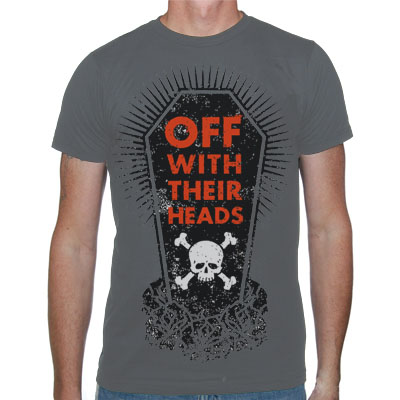 Off With Their Heads- Coffin on a charcoal shirt
