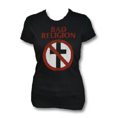 Bad Religion- Crossbuster on a black girls shirt