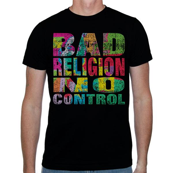 Bad Religion- No Control on a black shirt