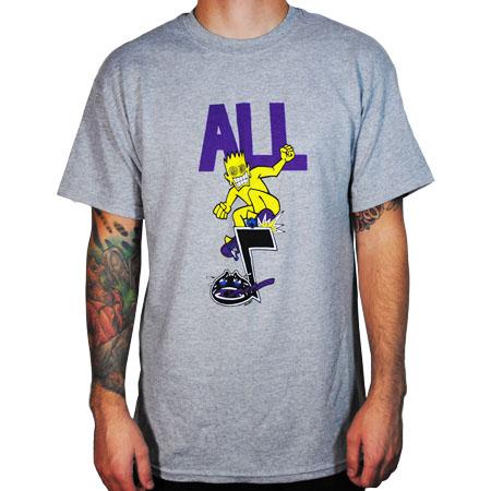 ALL- Skateroy on a grey shirt