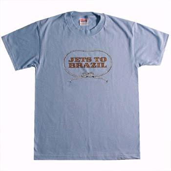 Jets To Brazil- Lasso on a light blue YOUTH SIZED shirt (Sale price!)