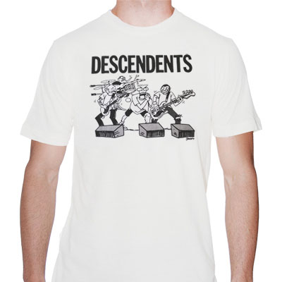 Descendents- Cartoon Live Pic on a white shirt