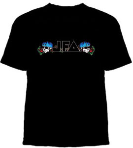 JFA- Skulls & Roses Logo on a black shirt (Sale price!)