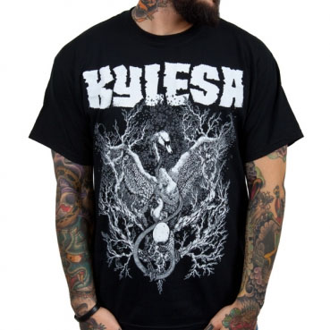Kylesa- Black Swans Of Ash on a black shirt (Sale price!)