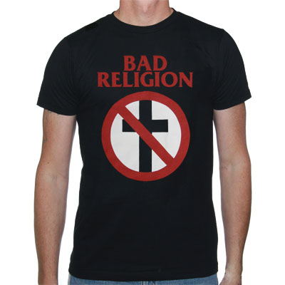 Bad Religion- Classic Crossbuster on a black shirt