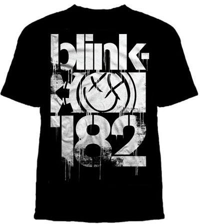 Blink 182- Large Logo on a black shirt