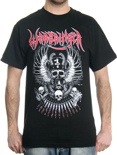 Warbringer- Winged Skull on a black shirt