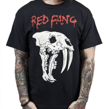 Red Fang- Creature Skull on a black shirt