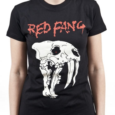 Red Fang- Skull on a black girls fitted shirt