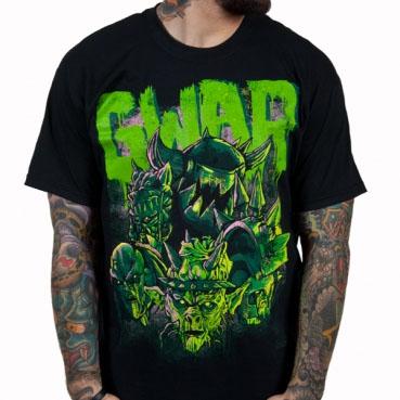 Gwar- Destroyers (Green Logo) on a black shirt