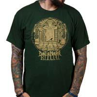 Black Dahlia Murder- Ritual Stamp on a forest green shirt