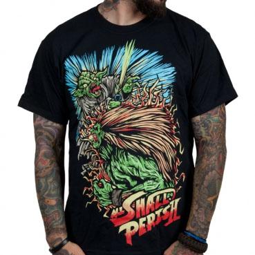 All Shall Perish- Street Fighter on a black shirt