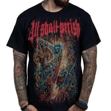 All Shall Perish- Chains on a black shirt (Sale price!)