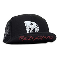 Red Fang- Skull on front, Logo under brim on a black trucker hat