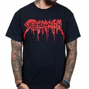 Skeletonwitch- Bloody Logo on a black shirt