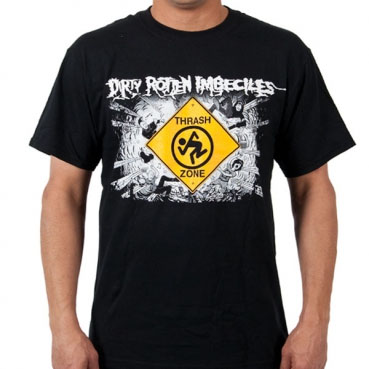 DRI- Thrash Zone Cover on a black shirt
