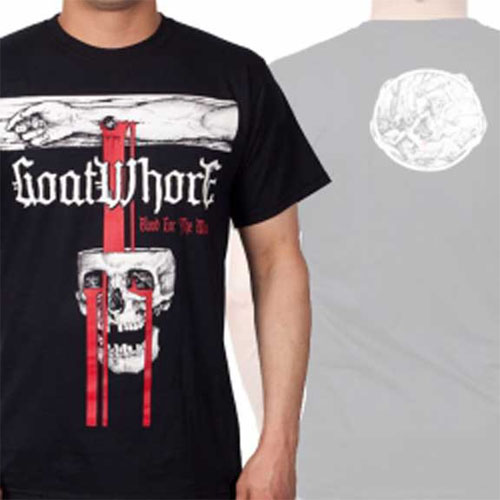 Goatwhore- Blood For The Master on a black shirt