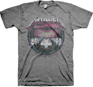Metallica- Master Of Puppets Vintage Print on a charcoal heather tri-blend ringspun cotton shirt (Sale price!)