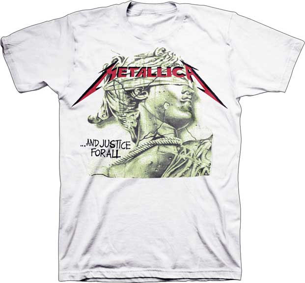 Metallica- And Justice For All (Statue Face) on a white shirt (Sale price!)