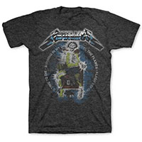 Metallica- Electric Chair on a charcoal heather tri-blend ringspun cotton shirt
