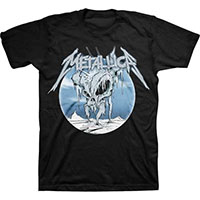Metallica- Ice Skull on a black ringspun cotton shirt (Sale price!)
