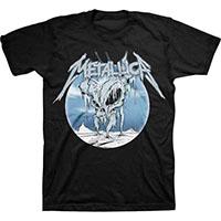 Metallica- Ice Skull on a black ringspun cotton shirt (Sale price!)