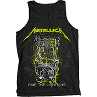 Metallica- Ride The Lightning (Yellow & White Design) on a black tank top (Sale price!)
