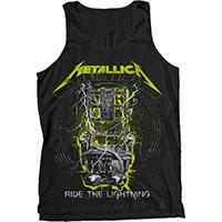 Metallica- Ride The Lightning (Yellow & White Design) on a black tank top (Sale price!)