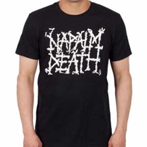 Napalm Death- Logo on a black shirt