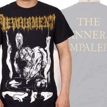 Devourment- Impaled on front, Quote on back on a black shirt (Sale price!)