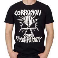 Corrosion Of Conformity- Skull on a black shirt