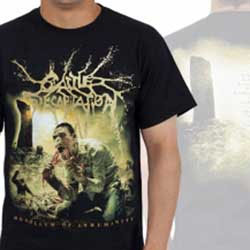 Cattle Decapitation- Monolith on front & back on a black shirt