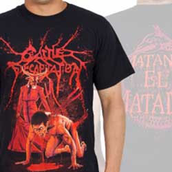 Cattle Decapitation- Matador on front & back on a black shirt