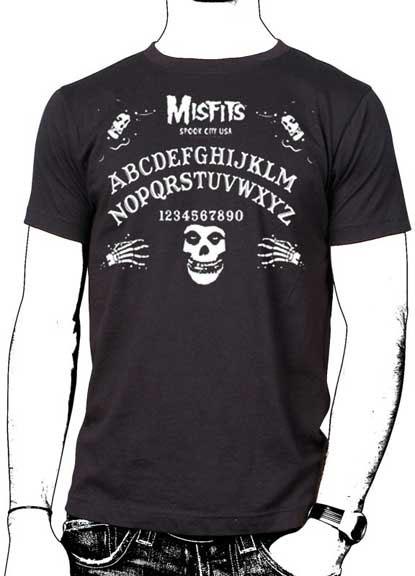 Misfits- Ouija Board on a black ringspun cotton shirt