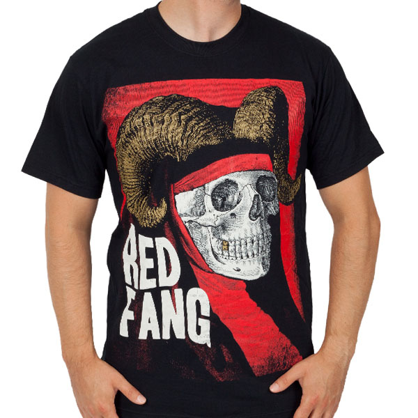 Red Fang- Skull With Horns on a black shirt (Sale price!)