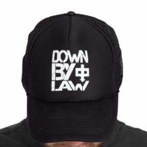 Down By Law- Logo on a black trucker hat