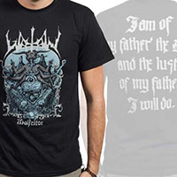 Watain- Malfietor on front, Quote on back on a black shirt