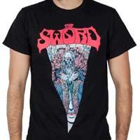 Sword- Veil on a black shirt