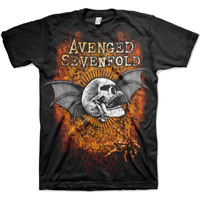 Avenged Sevenfold- Thru The Fire on a black shirt
