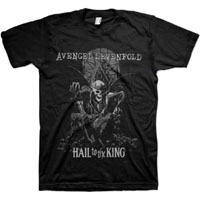 Avenged Sevenfold- Hail To The King (Skeleton On Throne) on a black shirt (Sale price!)