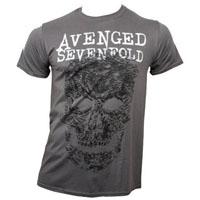Avenged Sevenfold- Skull on a grey shirt