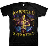 Avenged Sevenfold- Stellar on a black shirt