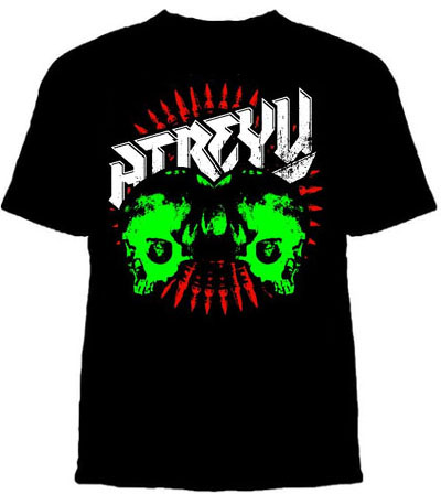 Atreyu- Skulls & Bullets on a black shirt (Sale price!)