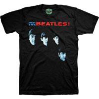 Beatles- Meet The Beatles on a black ringspun cotton shirt