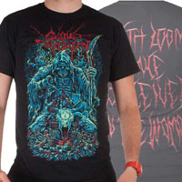 Cattle Decapitation- Death Looms on front & back on a black shirt