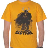 Red Fang- Gorilla Throne on a gold shirt