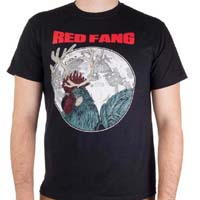 Red Fang- Rooster Buck on a black shirt