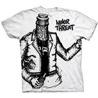 Minor Threat- Bottled Violence (Oversize Print) on a white shirt